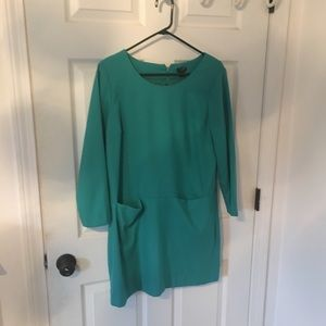 J Crew turquoise blue dress